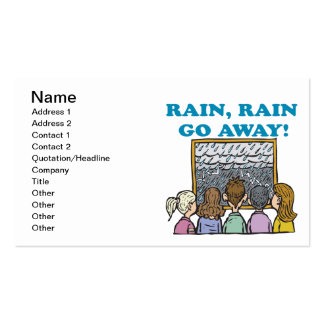 La lluvia de la lluvia sale tarjeta de visita