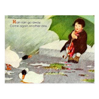 La lluvia de la lluvia sale tarjetas postales