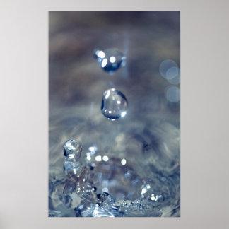 La lluvia es el sonido de un piano póster