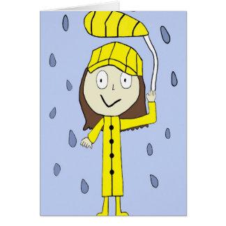 La lluvia galón de Ayssa Tarjeta De Felicitación