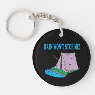 La lluvia no me parará llavero redondo acrílico a una cara