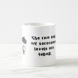 La lluvia y mis niveles de la serotonina son taza clásica