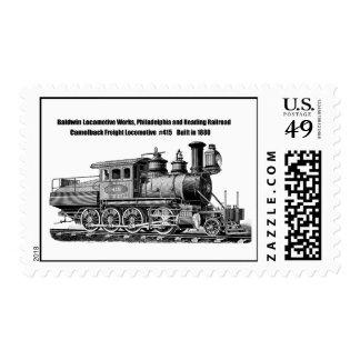 La locomotora de Baldwin funciona el Camelback Sello
