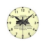 La locomotora de Baldwin funciona el reloj de pare
