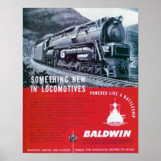 La locomotora de Baldwin funciona la locomotora de