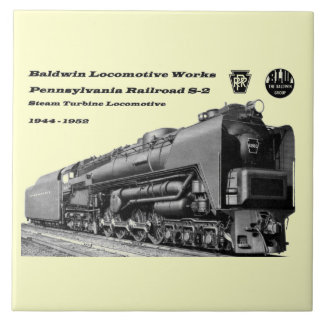 La locomotora de Baldwin funciona la turbina de va Azulejo Cuadrado Grande