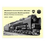 La locomotora de Baldwin funciona la turbina de va Tarjeta Postal