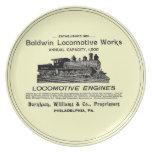 La locomotora de Baldwin funciona las placas 1895 Platos Para Fiestas