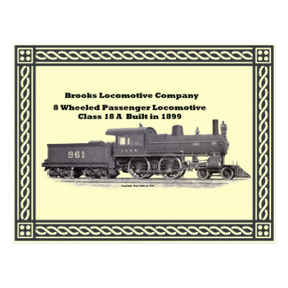 La locomotora de los arroyos funciona la postal de