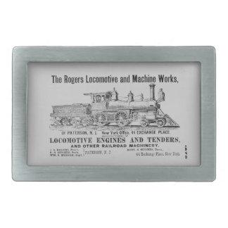 La locomotora de Rogers funciona la hebilla del Hebilla Cinturon Rectangular