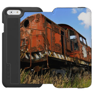 La locomotora vieja se coloca retirada y funda billetera para iPhone 6 watson