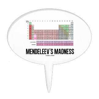 La locura de Mendeleev (tabla de elementos periódi Decoración Para Tarta