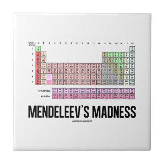 La locura de Mendeleev (tabla de elementos periódi Azulejo Cuadrado Pequeño