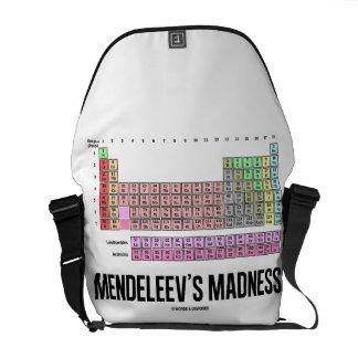 La locura de Mendeleev tabla de elementos periódi Bolsa De Mensajeria