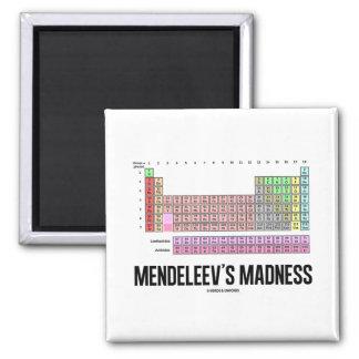 La locura de Mendeleev tabla de elementos periódi Imán De Nevera