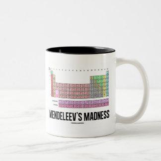 La locura de Mendeleev (tabla de elementos Taza De Café De Dos Colores