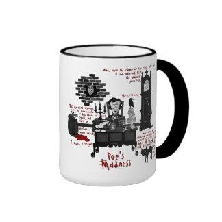 """La """"locura del Poe"""" (taza de la versión 2)"""