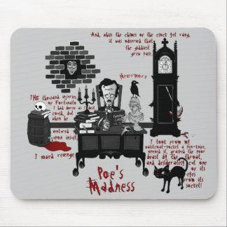 """La """"locura del Poe"""" (versión 2) Mousepad"""
