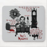 "La ""locura del Poe"" (versión 2) Mousepad Tapete De Ratones"