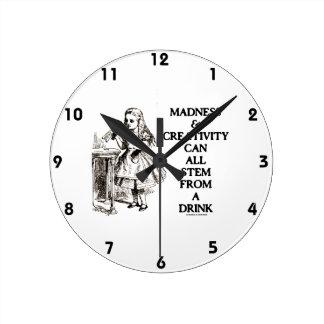 La locura y la creatividad pueden toda provenir un relojes de pared