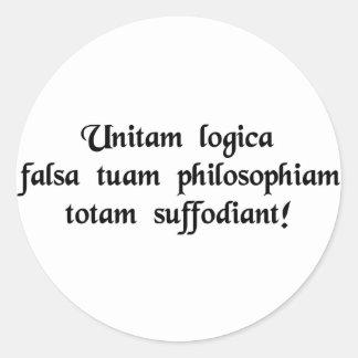 ¡La lógica culpable de mayo mina su filosofía Pegatina Redonda