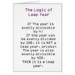 La lógica del año bisiesto tarjetón