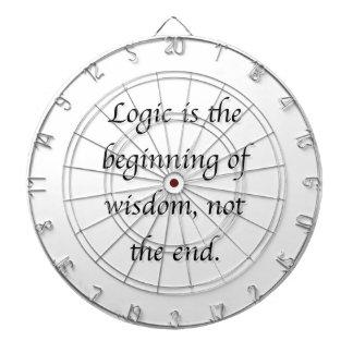 La lógica es el principio de la sabiduría, no el tabla dardos