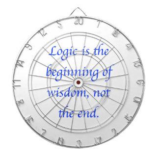 La lógica es el principio de la sabiduría, no el tablero dardos