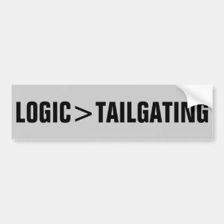 La lógica es mayor que chupar rueda pegatina para auto