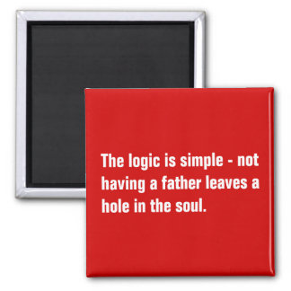 La lógica es simple - no teniendo un padre… imán cuadrado