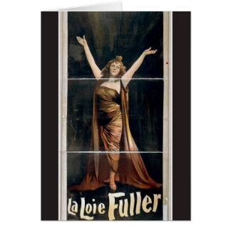 La Loie Fuller Vintage Theater Card
