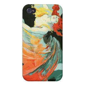 La Loie más lleno, Julio Chéret de Folies-Bergère iPhone 4 Carcasas