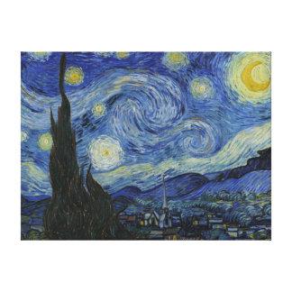 La lona de la noche estrellada lona estirada galerias
