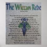 La lona de Wiccan Rede Póster