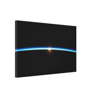 La lona envuelta Blue Line fina imprime Impresión En Lienzo