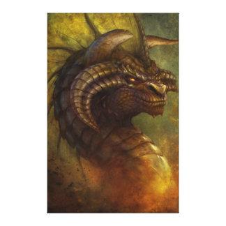 La lona envuelta del dragón antiguo impresión en lona
