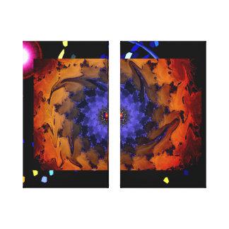 La lona envuelta espiral azul impresiones de lienzo