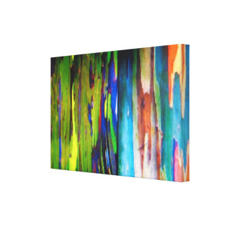 La lona envuelta eucalipto del arco iris impresion de lienzo
