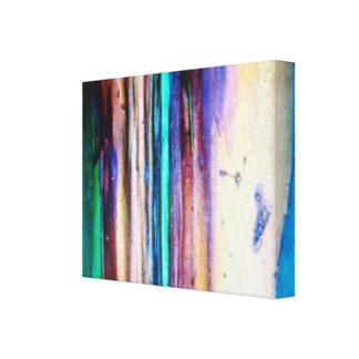 La lona envuelta eucalipto del arco iris impresión de lienzo