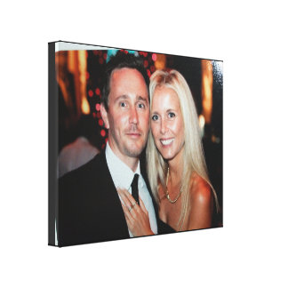 La lona envuelta foto del boda crea sus los propio lienzo envuelto para galerías