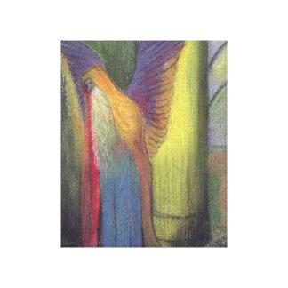 La lona envuelta hombre coa alas impresión en lona estirada