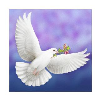 La lona envuelta paloma de la paz impresión en lienzo