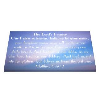 La lona envuelta Pray del señor Impresión En Lienzo Estirada