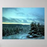 La lona ideal de un invierno impresiones