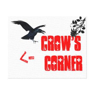 La lona oficial de la esquina del cuervo impresiones en lienzo estiradas
