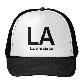 LA Louisiana  plain black Hats