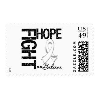 La lucha cree el cáncer de pulmón de la esperanza timbres postales