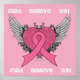La lucha cree el triunfo - poster del cáncer de pe