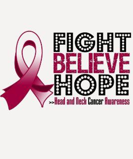 La lucha cree la esperanza - cáncer de cabeza y camisetas