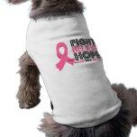 La lucha cree la esperanza - cáncer de pecho camisetas mascota